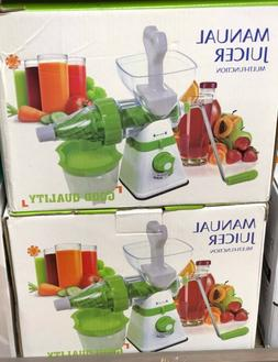 2 in 1 Multifunction Manual Fruit Juicer Extract Maker Manua