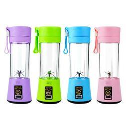 380ml Portable Mini Juicer Cup USB Rechargeable Blender Mixe