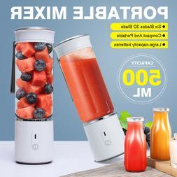 500ML PORTABLE Juicer Cup Bottle USB Rechargeable Fruit Juic