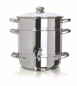 Euro Cuisine Stainless Steel Stove Top Steam Juicer, 1 ea