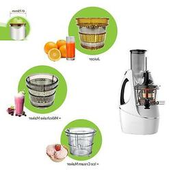 Affordable BPA-Free Whole Slow Juicer Plus Ice Cream And Mil