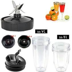 Blade Parts &18/24 oz Cup Lids Jar For 900W 1000W Nutri Ninj