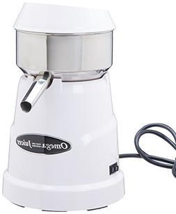 Omega Professional Citrus Juicer, 150 RPM, White, 1 ea