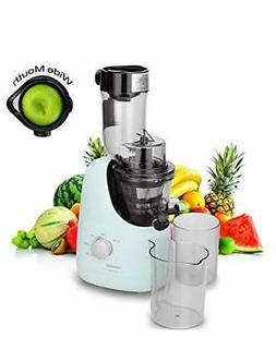 comfee bpa free masticating juicer extractor
