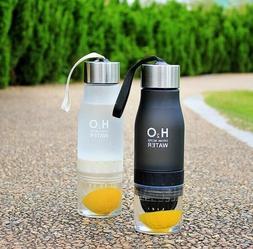H2O Fruit Infused Water Bottle 650mL with Portable Lemon Jui