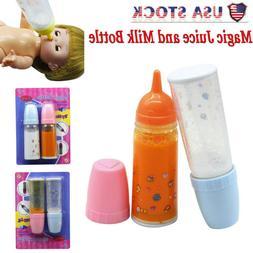 Kid Developmental Toy Magic Juice and Milk Bottle Set Baby D