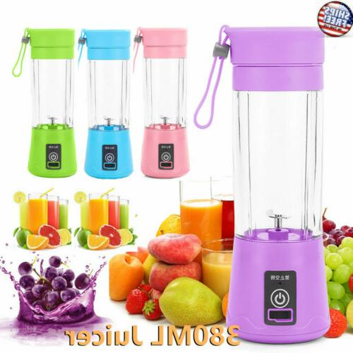 380ml new portable blender usb rechargeable fruit