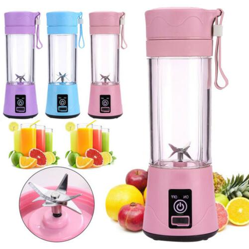 380ml portable blender usb rechargeable juicer cup