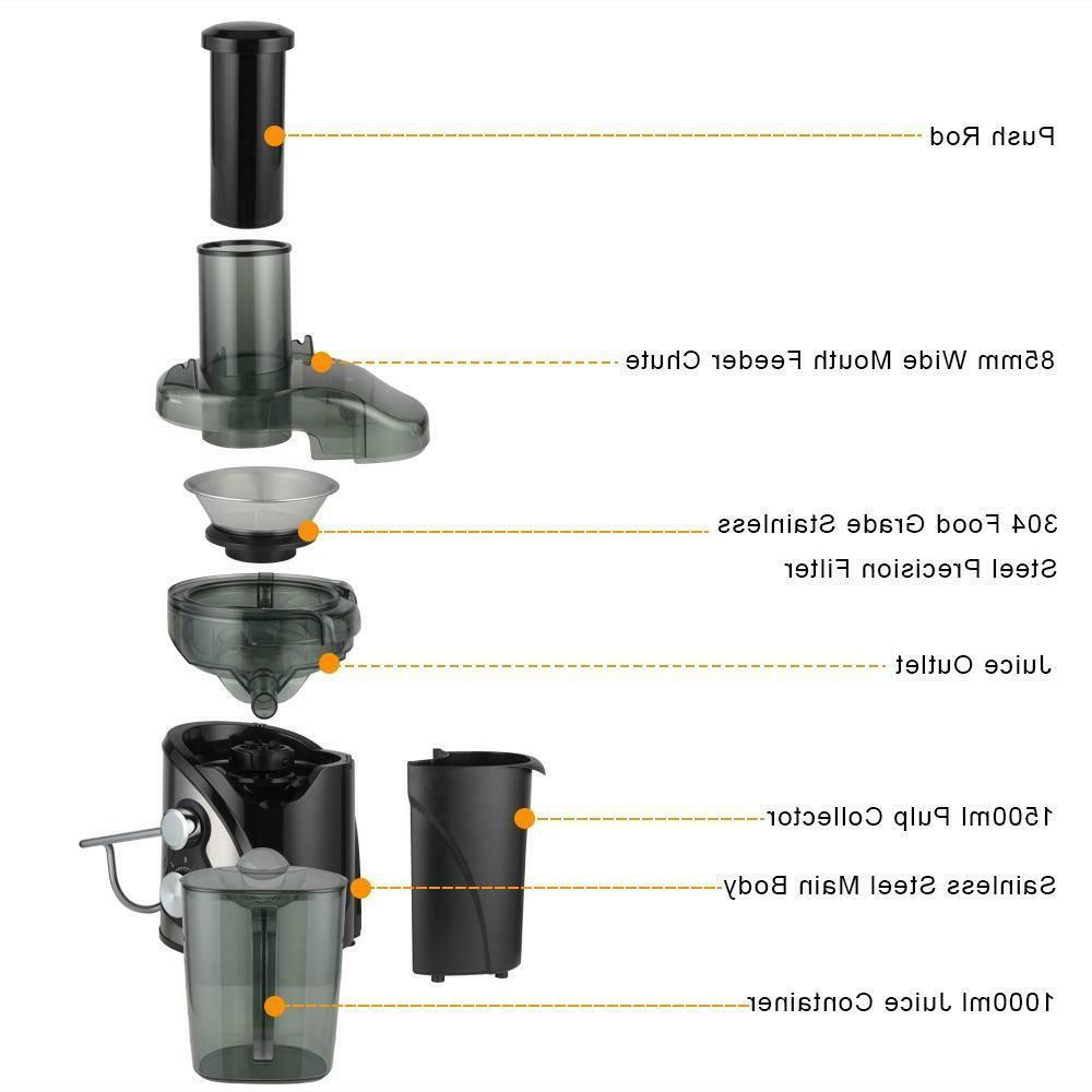 800W 1500ML Juice Machines Fruit Vegetable