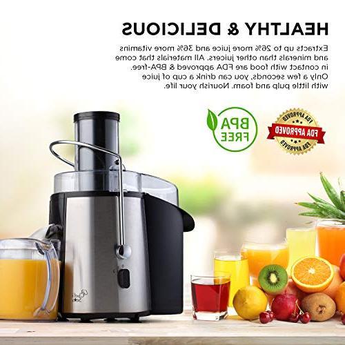 Juicer Fruit & Juice Maker Quiet 700 Power For Whole Vegetables To Clean, Best Kitchen BPA