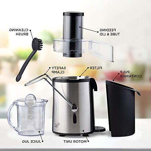 Juicer Extractor Fruit & Maker 700 Power Mouth For Whole Vegetables Easy To Best For & Kitchen - BPA Free