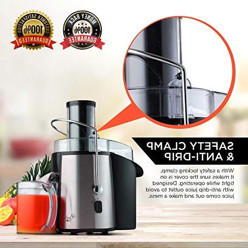 Juicer Electric Maker Quiet Power Motor, Wide For Vegetables Best Kitchen -
