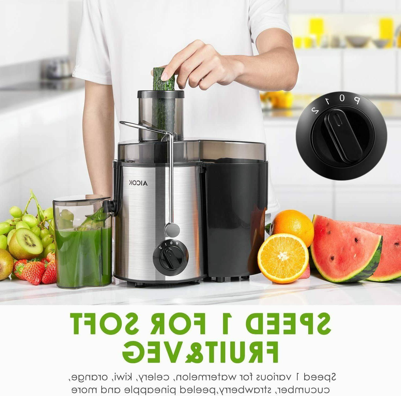 Extractor De Jugos Frutas Vegetales Inoxidable Exprimidor jugo
