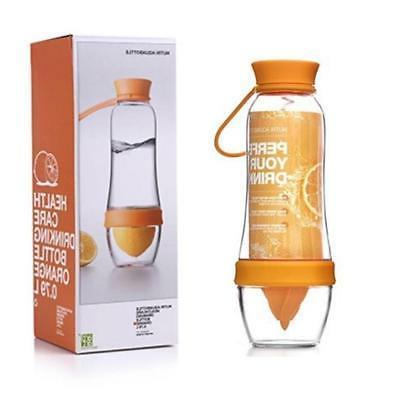 fruit infusing water bottle and juicer orange