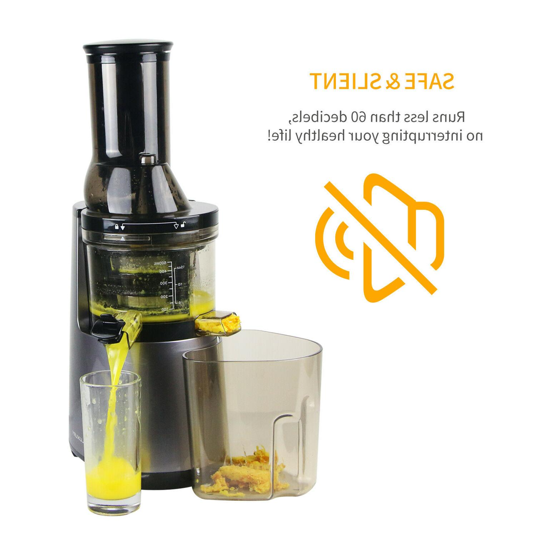 juicer machine masticating slow juice cold press