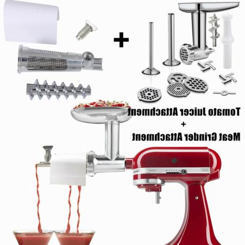 meat grinder and tomato juicer attachment sauce