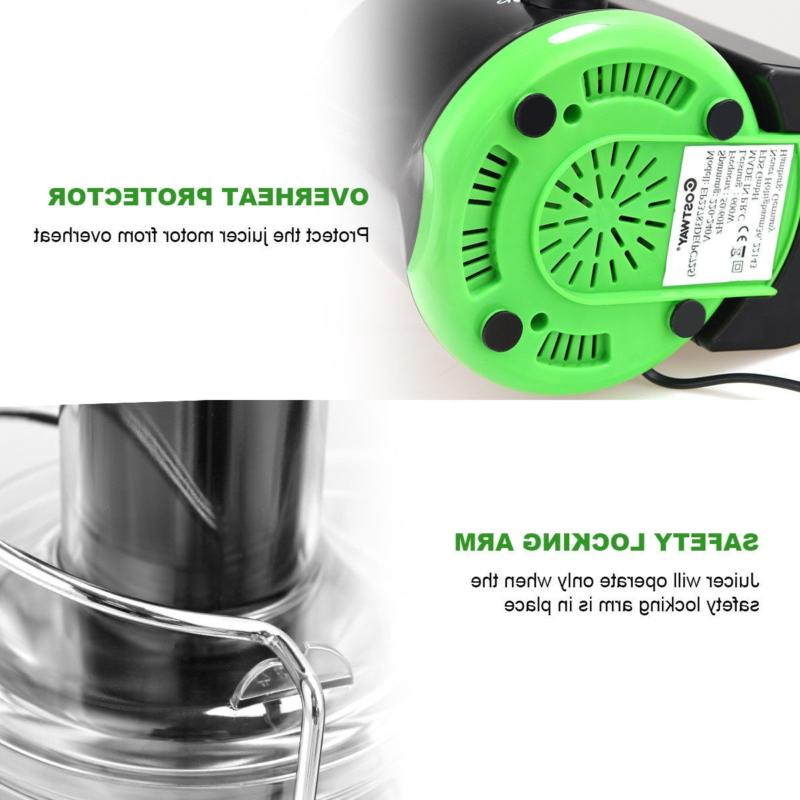 New! Wide Mouth Fruit and Centrifugal Electric Juicer