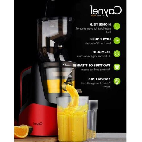 New Juicer Cold Extractor Fruit Vegetable