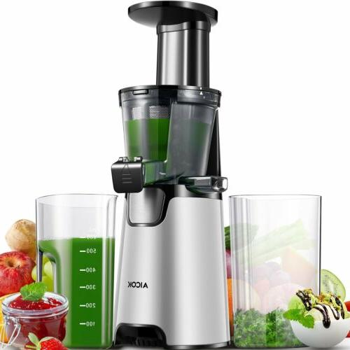 Aicok Juicer Slow Masticating Juicer Extractor, Cold Press J