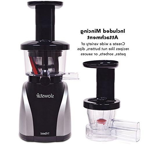 Tribest Slowstar Juicer and Mincer SW-2020, Cold Extractor in Silver Black