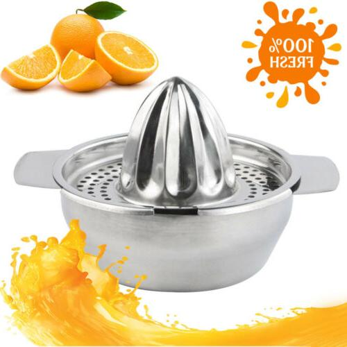 Stainless Handy Fruit Lemon Lime Kitchen Citrus Juicer Hand