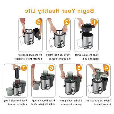 ZOKOP 600W Juicer Juice Machines