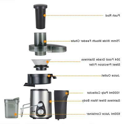 ZOKOP upgrade 3 600W Electric Machines Extractor Centrifugal