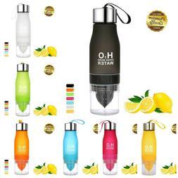 Lemon Bottle Infuser Fruit Pulp Juicer Travel Outdoor Sports