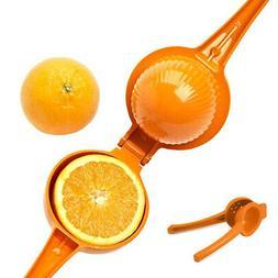 Lemon Lime Squeezer 2In1 Manual Hand Held Juicer Orange Citr
