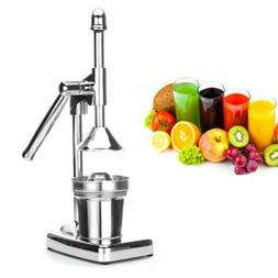 Manual Hand Press Jack Whole Fruit Juicer Squeezer Juicing E