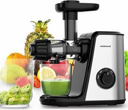 Masticating Fruit & Vegetable Juicer Machine Electric Juice