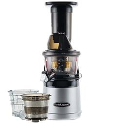 Omega MMV702S Mega Mouth Slow Juicer With Accessories in Sil