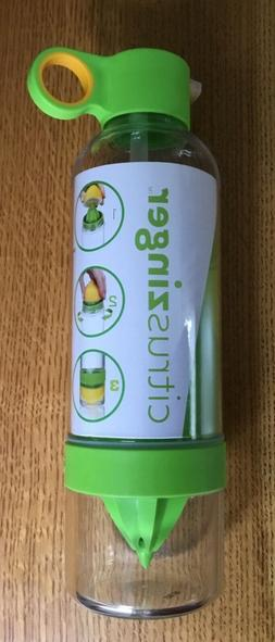 NEW Citrus Zinger Sport Juicer Water Infuser Sip Bottle Full