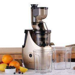 New Whole Slow Masticating Juicer Cold Press Quiet Durable C