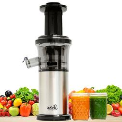 Tribest Shine Vertical Compact Cold Press Masticating Juicer