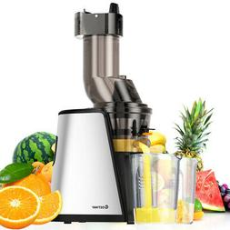 Slow Masticating Juicer Cold Press Extractor Stainless Steel