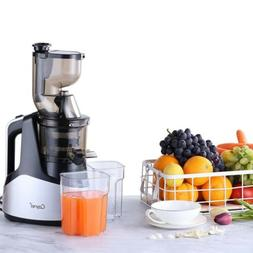 "Slow Masticating Juicer Cold Press Extractor with 3""Wide Chu"