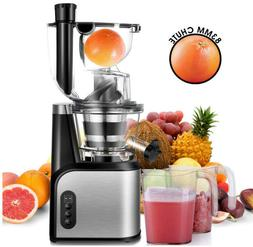 Slow Masticating Juicer Extractor, CUSIBOX 83mm  Wide Chute