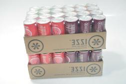 IZZE Sparkling Juice, 4 Flavor Variety Pack, 8.4 oz Cans, 48