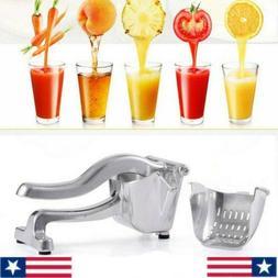 US-Stainless Steel Lemon Orange  Squeezer Juicer Hand Press